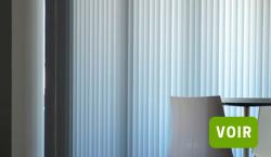 Store vénitien en aluminium et store à bandes verticales
