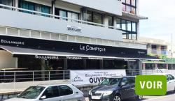 """Store banne pour la boulangerie """"Le Comptoir"""