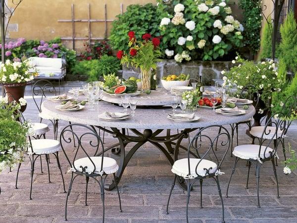 mobilier de jardin table ronde