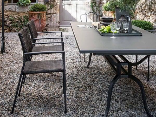 mobilier de jardin table bois acier