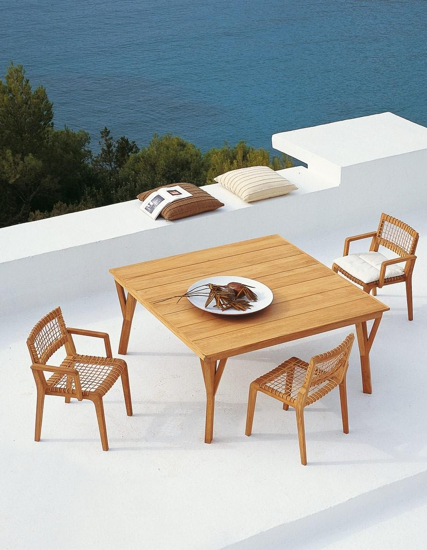 mobilier de jardin table carree