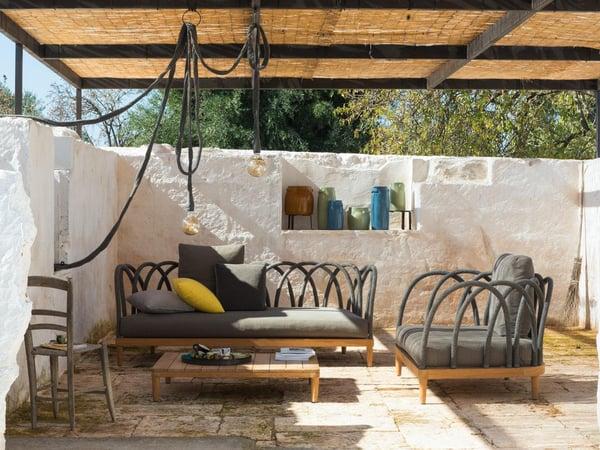 mobilier de jardin design resitant aux pluies