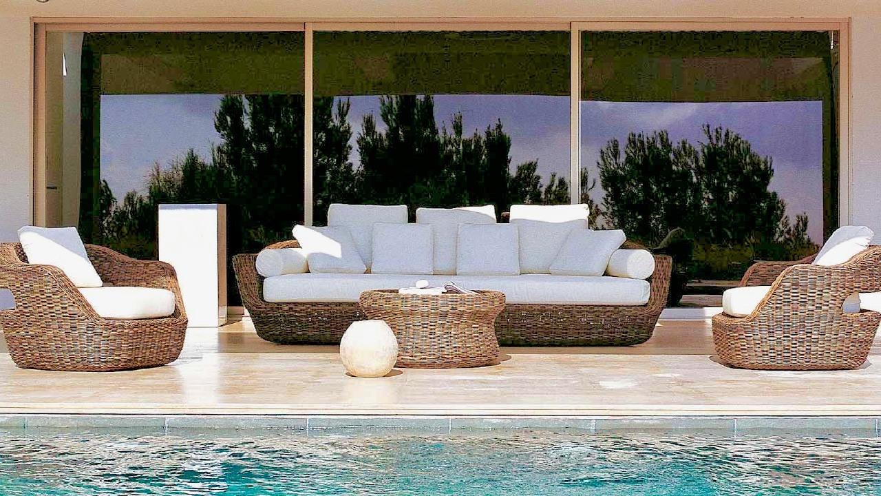 Mobilier piscine canape